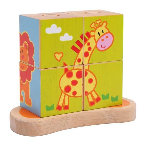 Sestavljanka - lesene kocke